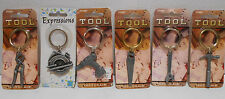 LOT OF 6 KEY CHAINS HAND SAW POWER DRILL HAMMER WRENCH TOOL  PEWTER