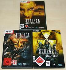 3 PC juegos colección Stalker Call Of Pripyat Clear Sky Chernobil S T A L K E R