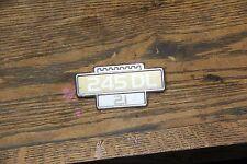 Volvo 240 245dl fender Emblem Badge original early