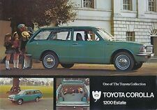 Toyota Corolla KE20 1200 Estate 1971-72 original UK Sales Brochure No. TC1200E/1