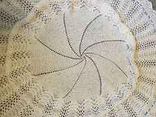 New Beautiful Hand Knitted Circular Baby/Christening/Wedding Shawl/Blanket