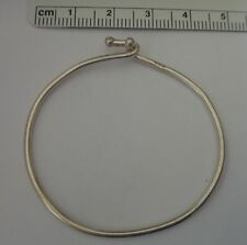 """5"""" Sterling Silver Baby or Thin Small Child's 1.5mm Wire Charm Bracelet!"""