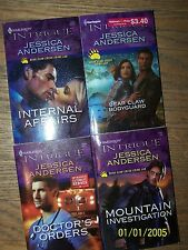 4 Jessica Anderson  Romantic Suspense books in Great Condition