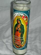 "Our Lady of Guadalupe Religious Prayer Candle / La Virgen de Guadalupe 8"" OdoBan"