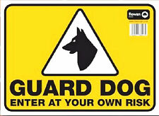 Guard Dog Sign 24 Hours In operation Caution Warning Safety Enter At Your Risk