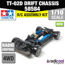 ! nuevo! 58584 TAMIYA TT-02D 4WD Drift spec chasis 1/10th RC Coche Kit
