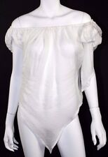 VIVIENNE WESTWOOD NWT White Silk Off The Shoulder Blouse 40