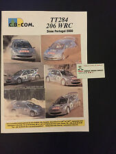 DECALS 1/43 PEUGEOT 206 WRC GRONHOLM RALLYE PORTUGAL 2000 RALLY PORTUGHESE