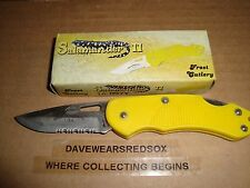 Pocket Knife With Serrations New Never Used Condition Hunting / Fishing Sharp!