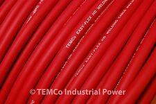 WELDING CABLE 4 AWG RED 20' CAR BATTERY LEADS USA NEW Gauge Copper