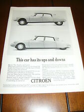 1961 CITROEN    ***ORIGINAL VINTAGE AD*** UPS AND DOWNS