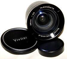 Vivitar 28mm F/2.5 42mm M42 Mount Prime Wide Angle Lens DSLR M4/3 Camera Nice