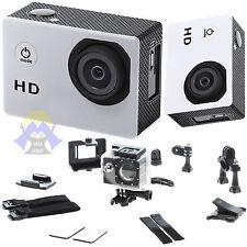 TELECAMERA Sportiva HD Cam SUBAQUEA Videocamera LCD Sport MOTO Auto KIT Usb PRO