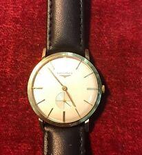 Reloj Pulsera 1964 Longines Caballero. 9 quilates oro sólido caso. mano de la bobina