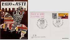 # ASTI: CORSA DEL PALIO 1969 - CON ANNULLO SPECIALE  dis. Luzzati (3)