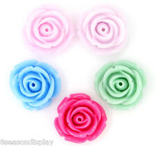 """50 Resin Embellishments Jewelry Making Findings Flower Mixed 20x20mm(6/8""""x6/8"""")"""