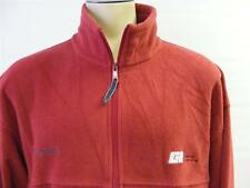 mens COLUMBIA FLEECE jacket zip up RED BRICK XXL 2XL GENERAL EXCAVATING CLEAN