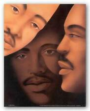 AFRICAN AMERICAN ART PRINT Brothers Keith Mallett 16x20
