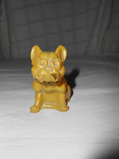 Vintage Westmoreland? glass colored French bull dog. Unusual color