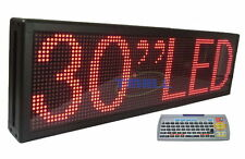 "30""x9"" Red LED Programmable Scrolling Message Display Sign Indoor Board P7.62"