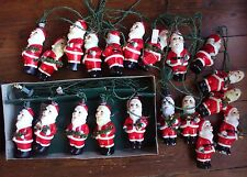 Vintage Santa Claus Christmas Tree Lights Figural 20 Philippines Bells Garland