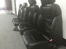 2005 05 06 07 AUDI B7 S4 OEM BLACK LEATHER FRONT REAR RECARO SEATS COMPLETE SET