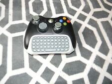 XBOX 360 WIRELESS BLACK CONTROLLER WITH CHATPAD