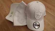 NEW ERA HAT CAP STRETCH FIT LARGE XLARGE UP TO 7 5/8 OAKLAND RAIDERS WHITE NFL