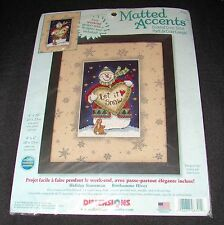 Dimensions 8701 HOLIDAY SNOWMAN Christmas LET IT SNOW Cross Stitch Kit