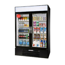 Beverage Air MMR49-1-B-LED MarketMax Two Glass Door Merchandiser Refrigerator