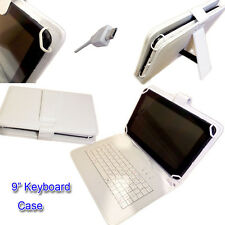 "9"" PU LEATHER CASE COVER  inc KEYBOARD for A13 Allwinner Google Android Tablet"