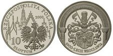 2000 Poland Silver Proof  10 Zl-1000 years Wroclaw- Coat of Arms