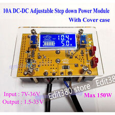 10A DC Regultor 12V 24V Converter CC CV Adj Power Supply LCD volts Amps Display