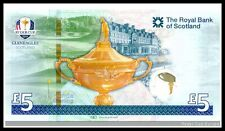 2014 RYDER CUP LTD EDITION £5 NOTE IN COMPLETE PRESENTATION FOLDER UK POSTPAID