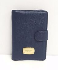 Michael Kors Jet Set Leather Passport Case (Navy)