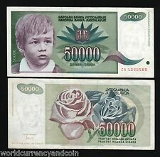 YUGOSLAVIA 50000 DINAR P117 1992 *REPLACEMENT* ZA BOY ROSE CURRENCY MONEY NOTE
