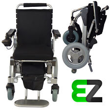 EZ Lite Cruiser Deluxe Slim SX12 Light Foldable Power Wheelchair 10 Ah Battery
