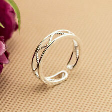 Wholesale 925 Sterling Silver Plated Women Fashion jewelry Rings SIZE OPEN #23