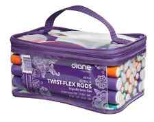 Twist Flex Rods Hair Rollers Curlers Diane Twist Flex Rods With Clear Carry Case