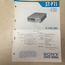 Sony Service Manual for the ST-P7J Tuner ~ Repair