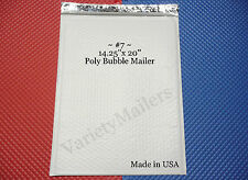 "7 EXTRA LARGE POLY BUBBLE POSTAL MAILING ENVELOPES #7 14.25"" x 20""  MADE IN USA!"