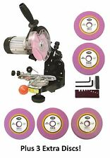 Electric Chainsaw CHAIN GRINDER SHARPENER w/ EXTRA Grinding Wheels 5 Total Discs