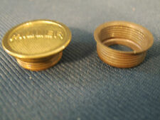Miller Oil Lamp Replacement Solid Brass Screw in Oil Fill Cap & Threaded Collar