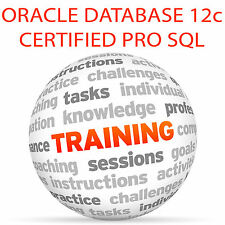 Oracle database 12c certifié pro sql bases-video training tutorial dvd