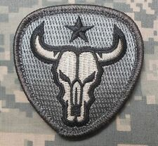 BULL SKULL TEXAS STAR US ARMY MILITARY TACTICAL US ISAF ACU LIGHT HOOK PATCH