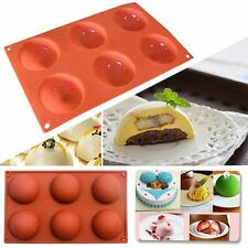 Silicone Mould Half Ball Sphere Baking Mold Bakeware DIY Chocolate Cupcake Cake