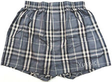 Burberry Licensed in Japan Boxer Underwear Grey & Black Small Tartan Set-L Size