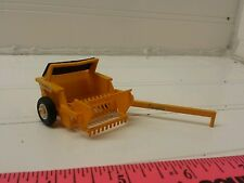1/64 CUSTOM ERTL farm toy degelman rock picker moveable flotation tires! Plastic