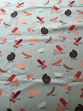 RPA424 Cured Meats Pepperoni Salami Sausage Bratwurst Cotton Quilting Fabric