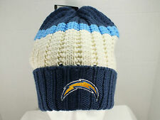 SAN DIEGO CHARGERS NFL Knit Beanie winter hat cuffed NEW By Reebok